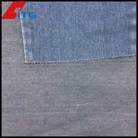 Cotton Poly Spandex 78/20/2 10OZ denim fabric 66/7' indigo blue RECYCLED DENIM FABRIC