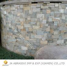 Cuarcita cultura pizarra piedra revestimiento gris de China cuarcita piedra decorativa chapa revestimiento de la pared