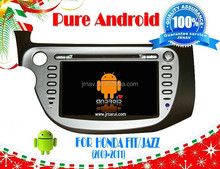 Pure android 4.4 car audio DVD navigation For Honda fit (2009-2011) RDS ,GPS,WIFI,3G,support OBD,support TPMS