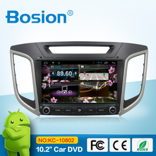 10.2'' android 4.4.4 car navigation stereo for IX25 with wifi 3g gps bluetooth swc aux in phone connect radio