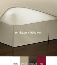 2015 Hot Sale Luxury 100% polyester Hotel Fitted Bed Skirt