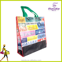 Promotional Shopping Fabric Handle Nonwoven Bag,Recycled shopping bag