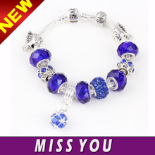 wholesale snake chain charms glass beads bracelet