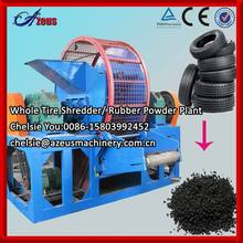2014 Full automatic tire shredder prices / Tyre rubber crumb production line