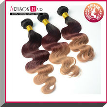 Hot sale fashion sexy 100% virgin fusion extension ombre color hair extensions