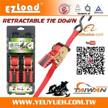 [EZ LOAD] 25mm Retractable Motorcycles & Motorbike Webbing Straps