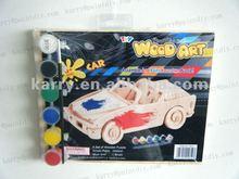 3D wood art kits antique car DIY toys for boys 6+
