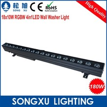 led stage lighting 18x10w led rgbw IP68 waterproof led strip wall washer light club lighting