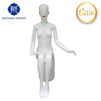 full body scarf display nude female mannequins models