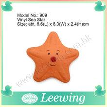 venta caliente suave de vinilo de lujo la estrella de mar juguete del animal doméstico