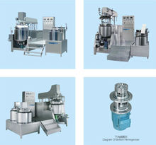 high shear vacuum homogenizing emulsifier mixing machine with titling discharge