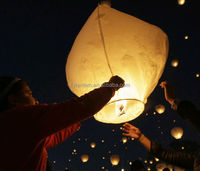 ECO flame resistant chinese white diamond sky lanterns/air balloons flying sky lantern factory sale