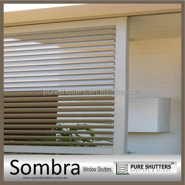 Exterior Decorativa Alem N Incorporada De Aluminio Persianas De Ventana Persianas Cortinas Y