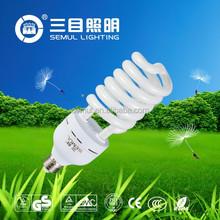 14mm 65W E27 Half Spiral Energy Saving Light 10000hrs CE quality CFL Bulbs Zhongshan Factory