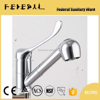 LB-E10605-2 2015 new fashion Gravity casting polished sanitary ware hot cold button kitchen faucet with mixer fitters