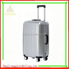 xc-6713 aluminum 3pcs abs trolley luggage suitcase set stock hard shell luggage wheels