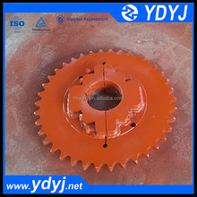 Driving chain connected wheels for motor and reducer