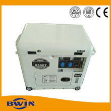 Electric start generator portable 5000w diesel power