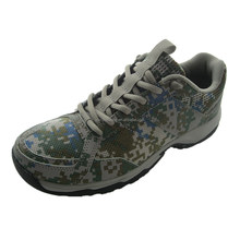Camo sky PU canvas anti-slip safety shoes work footwear