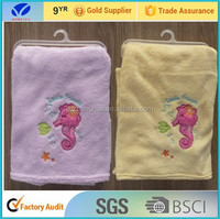 2015 New style Cotton velvet/flannel/Coral fleece/Polar fleece for baby hooded blanket