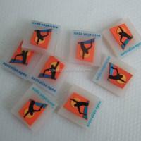 Transparent flag tennis string things vibration dampener square customzied logo