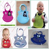 Lovely Washable and Waterproof Silicone Toddlers Bibs with fancy design