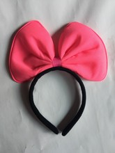 Fashion manufacturers selling new fluorescent double bow headband hair accessories