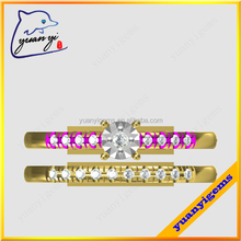 Yuanyi jewelry fashion jewelry sets for teenage girls paving stones design pave full finger ring