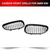 CARBON FIBER FRONT KIDNEY GRILLS FOR BMW E60 5 SERIES 2006-2010