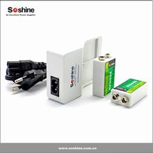 Soshine 9V Li-ion Ni-MH Rechargeable battery charger 9v universal battery charger 9 volt charger