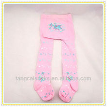 Pink lovely plain pantyhose tights for baby girls