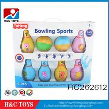 Hot product sport set plastic bowling pin kids bowling ball HC262612