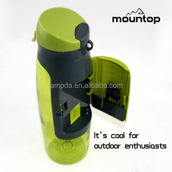 Sports Bottle With Storage Compartment: Water Bottle With Storage Compartment,2015 Special