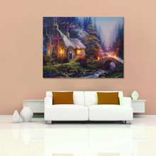 factory wholesale canvas framed led lighted up painting