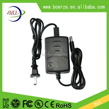 Double cable 12v 1a 2a power adapter