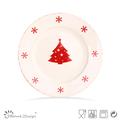 2013 venta caliente sello de estilo de la navidad placa de cena Proveedores de cerámica China