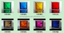 "8""x8""x3""hollow glass block in Foshan Guangdong, clear glass brick price, stained glass block"