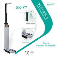 Body Composition Analyzer SK-V7 Measure Weight And Height Without Coin Acceptor For Indian Market