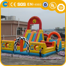 Giant Inflatable Smiling Obstacle Course, inflatable sliding course, inflatable obstacle for adult