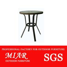 muebles de exterior de café de cristal table202001z