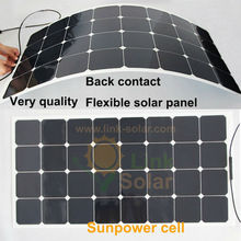 100W Sunpower Semi Flexible Solar Panel for RV BOAT Marine