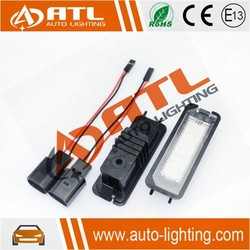 Wholesale canbus, no error, 12V/1.8W,led license plate light for vw lupo/new beetle