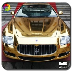 TSAUTOP ROHS certificate 8 colors available glossy chrome car wrap vinyl