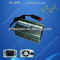 200W 12V DC to 240V AC Micro Car Power Inverter With USB