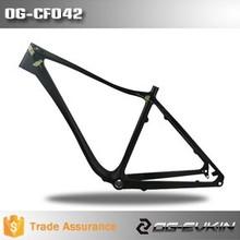 """Oem pieno in carbonio 26""""grasso og-cf042 telaio della bicicletta super leggero importato materiale in fibra piena materiale"""