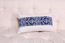 China popular bule white bed p bed headrest pillow with removable cover