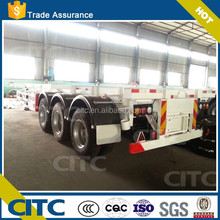 China supplier Tri-axle skeleton semi trailer 40ft container house for sale