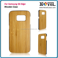 Hot sale blank wood mobile phone cover for S6 Edge