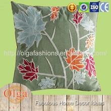 fashion traditional flora pattern satin cushion
