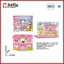Princess castle diy puzzle cardboard toy house with furniture